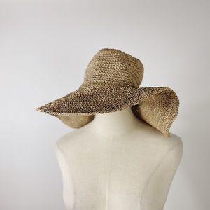 J. CREW Australian Made Floppy Paper Straw Sun Hat